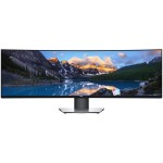 "Dell UltraSharp U4919DW, 49"" (32:9), IPS LED backlit, Anti-glare, 3H Hard Coating, 5120 x 1440, 1000:1, 350 cd/m2, 5 ms, Curve radius: 3800R, height, tilt , swivel, VESA (100 mm), 2 x HDMI, DP, USB Type-C, USB 3.0 hub, Black, 3Yr"