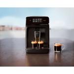 Philips Автоматична еспресо машина 1200 series 2 напитки, Сензорен дисплей, цвят Черно - MegaComp.bg