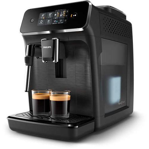 Philips Автоматична еспресо машина 2200 series 2 напитки, Приставка Classic за разпенване, Сензорен дисплей, цвят Черно - MegaComp.bg