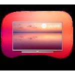 """Philips 55"""" 4K UHD LED Smart TV SAPHI, DVB-T/T2/T2-HD/C/S/S2, 3- странен Ambilight, Индекс на качеството на образа 1200, HDR 10+, Pixel Precise Ultra HD, Dolby Vision и Dolby Atmos"""