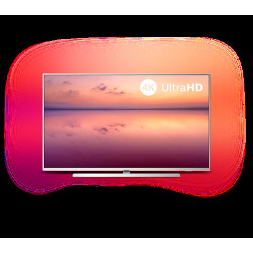 Philips 55 4K UHD LED Smart TV SAPHI, DVB-T/T2/T2-HD/C/S/S2, 3- странен Ambilight, Индекс на качеството на образа 1200, HDR 10+, Pixel Precise Ultra HD, Dolby Vision и Dolby Atmos - MegaComp.bg